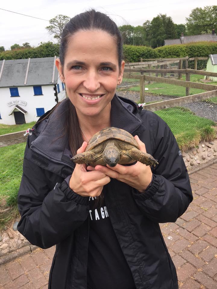 Lynn with tortoise 2