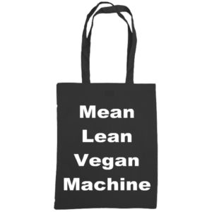 mean lean vegan machine tote