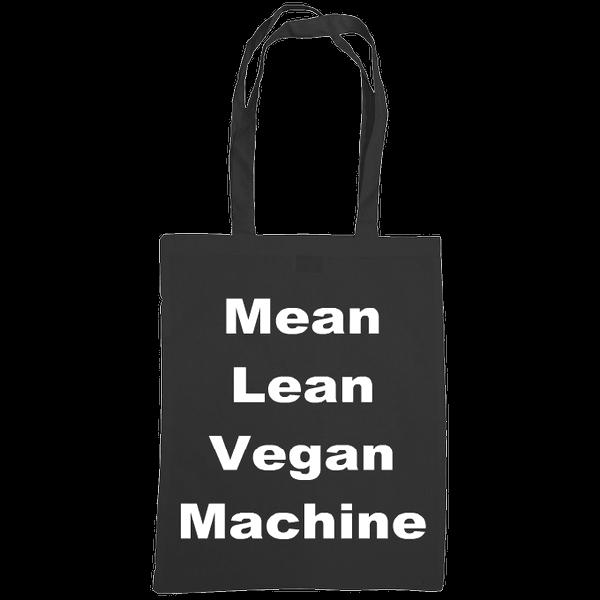 mean lean vegan machine tote