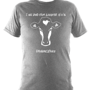 black children's vegan t-shirt with cow design