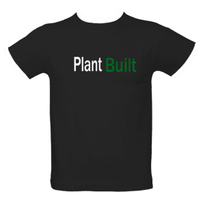 ringer t-shirt with 'plant built' slogan
